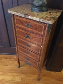 Many smaller antique accent furniture pieces
