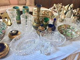Very fine Waterford pieces, cloissone, Limoges, Famille Rose bowls, Lladro and more