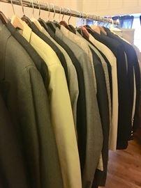 Many designer men's suits - unaltered