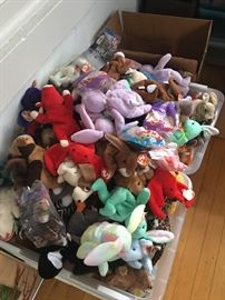 Lots and lots of Beanie Babies