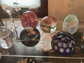 Paperweight collection including St. Louis