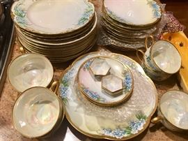 Hand painted set on Hutschenreuther china