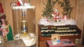 Huge Miller Lite Snow Dome Display, Organ