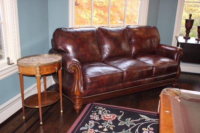 Two Bradington Young leather sofas