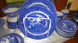 Blue Willow,  Plates, Saucers and cups