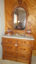 Antique dresser, Marble top