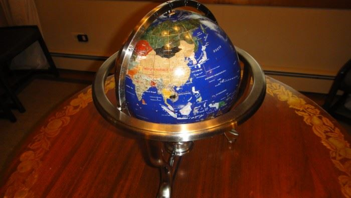 Semi Precious stone world globe
