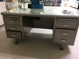 Sturdy metal desk, Mid Century Modern!