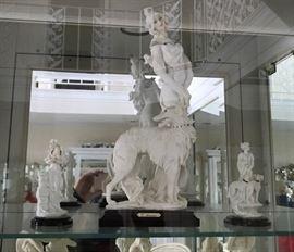 Statue # 13, 16, 17 ~ G. Armani Lady & Dog Statue & 2 Small G. Armanis