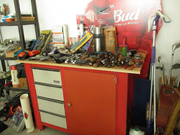 Tool chest and misc. hand tools