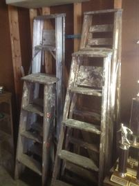 Ladders...both wood and aluminum