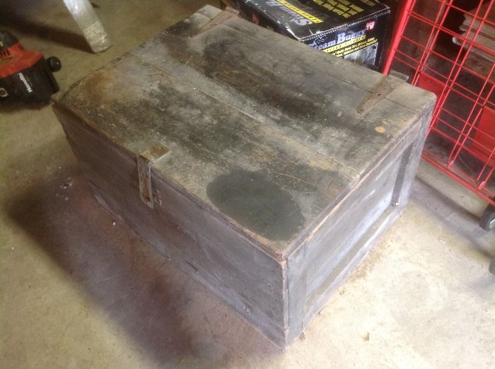 Old black wooden box.....great storage or decorator piece