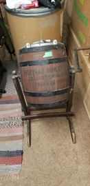 Antique Butter Churn with advertising