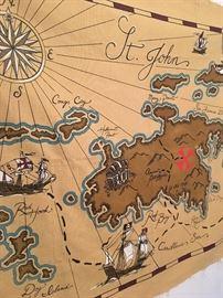 Saint Johns Canvas Map