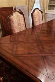 EASTH dining table with inlay;  GORGEOUS