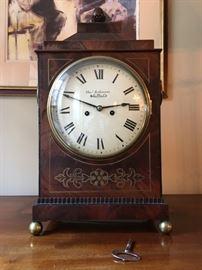Thomas Robinson Sheffield Flame Mahogany Clock