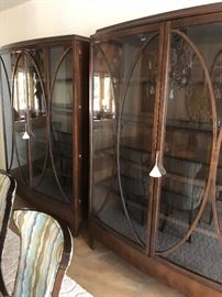 Statement pieces pair of stylish display cabinets ...anytime you find a pair like these jump on it!!!