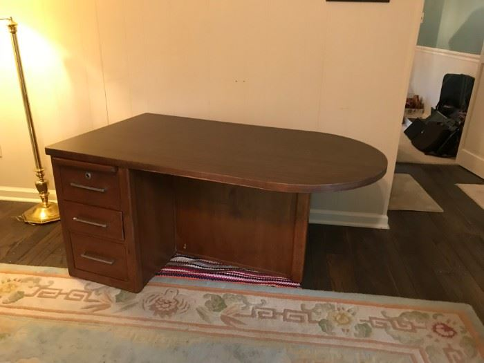 #2Wood/laminate  2-sided Desk w/3 drawers 52x30x24.5 $75.00
