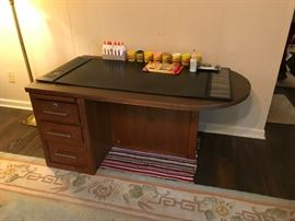 #2		Wood/laminate  2-sided Desk w/3 drawers 52x30x24.5	 $75.00