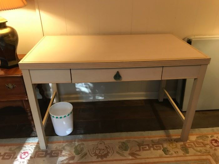 #3(2)Kimball Desk - Cream Pickled Desk w/pull-out drawer   48x26x30  Each $65