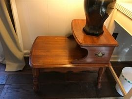 #5		Wood Step Table - as is  19x27x23	 $35.00