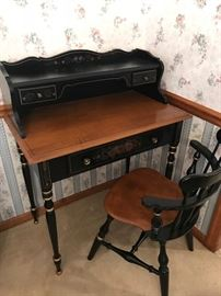 Ethan Allen-Hitchcock style Desk and chair