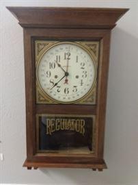 Key wind Seth Thomas Regulator clock