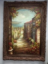 This is a Very large oil painting. 88 inches tall Nd 65 inches wide.