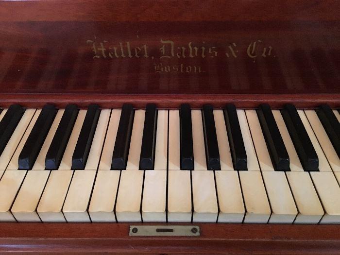 Hallet, Davis & Co.; Late 1800's.