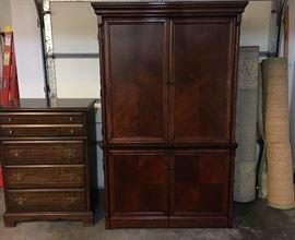 Bassett Dresser, Carpets, Beautiful Cherry Office Armoire