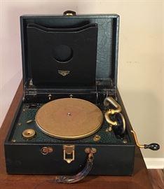 Antique Portable RCA Victrola Record Player