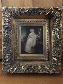 Oil painting and beautiful gold frame