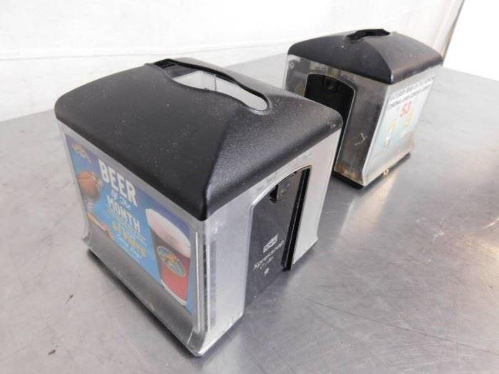 2 Tork Xpressnap Napkin Dispenser.