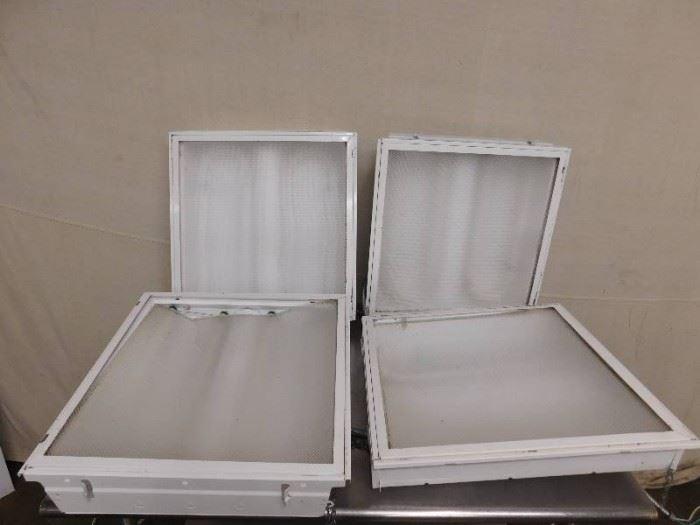 4 Flourescent Light Boxes