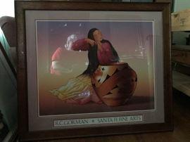 Santa Fe Native American framed art print
