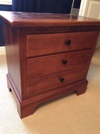 Nice set of cherry bedside chest of drawers