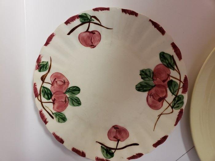 Blue Ridge pottery plate.