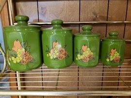Vintage canister set.