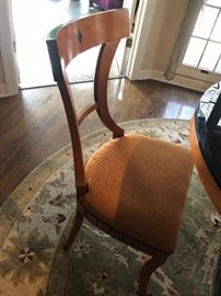 Custom chair with cushioned seat