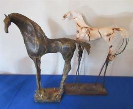 Horse sculptures by Carl Dahl $1900 each