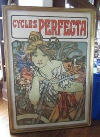 """Alphonse Mucha """"Cycles Perfecta"""" original poster from 1902 measures approx. 61""""x41""""  $18,000"""