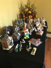 Christmas Village and Willow Figurines