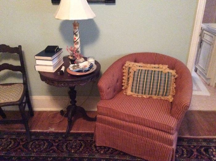 Small filigree drum table absolutely exquiste