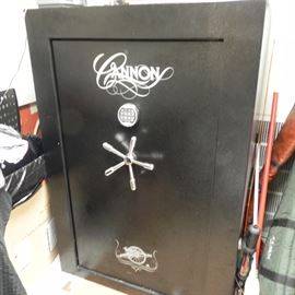 "A nice like new Cannon gun safe. 59"" x 40"" x 28"" x 24""."