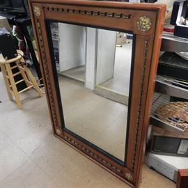 Very nice solid wood mirror. Measures 4 ft x 3 ft.