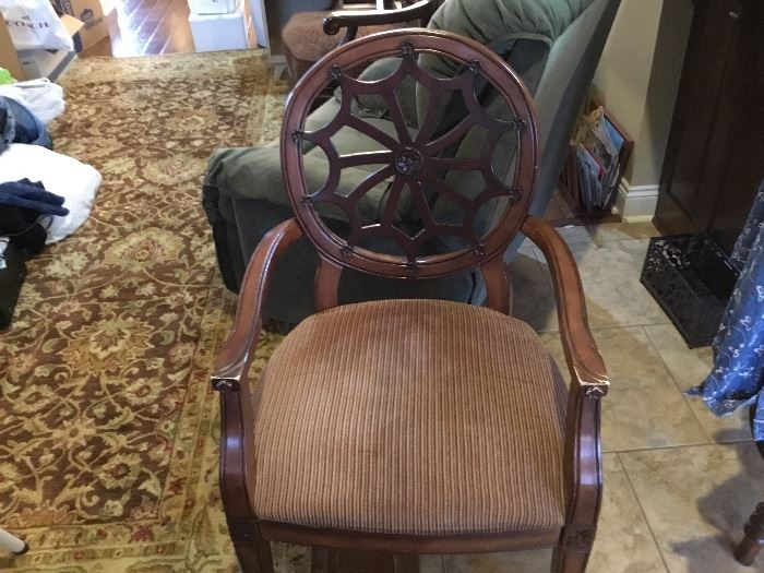 Spider web back occasional chair