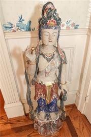 5. H Antique Guan Yin Figure