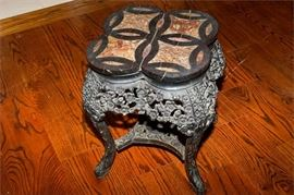 1. H Antique Stone Top Table