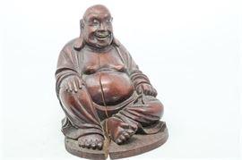 7. H Wooden Buddha Figurine