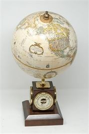 12. H REPOGLE Globe With Barometer Thermometer